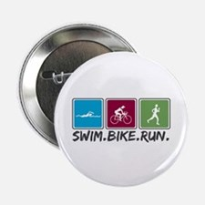 "Swim Bike Run 2.25"" Button (100 pack)"
