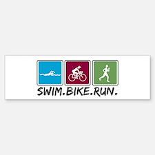 Swim Bike Run Bumper Bumper Sticker
