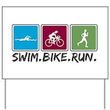 Swim Bike Run Yard Sign