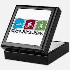 Swim Bike Run Keepsake Box