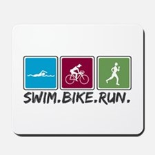 Swim Bike Run Mousepad