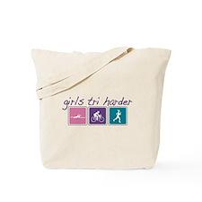Girls Tri Harder Tote Bag