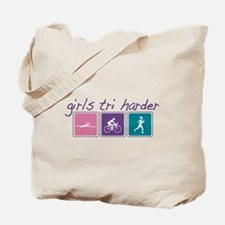 Girls Tri Harder Tote Bag