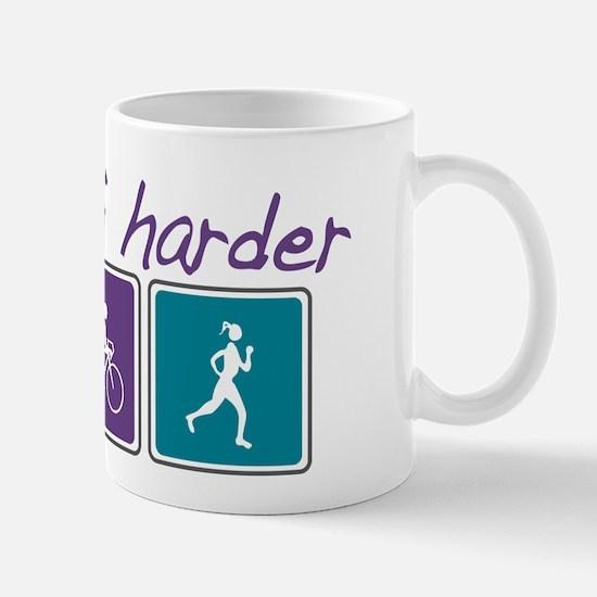 Girls Tri Harder Mug