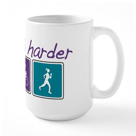 Girls Tri Harder Large Mug