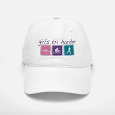 Girls Tri Harder Baseball Baseball Cap
