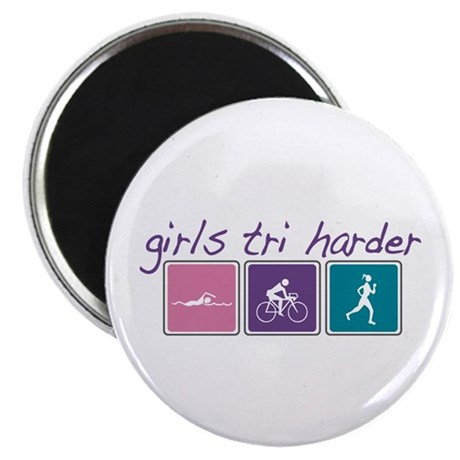 Girls Tri Harder Magnet