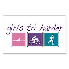Girls Tri Harder Decal