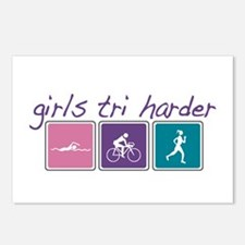 Girls Tri Harder Postcards (Package of 8)