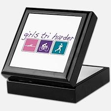 Girls Tri Harder Keepsake Box