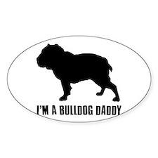 i'm a bulldog daddy Decal