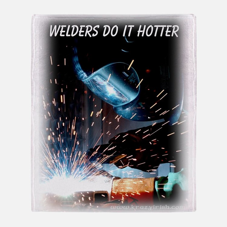 Krazy Irish Welders Do It Hot Throw Blanket