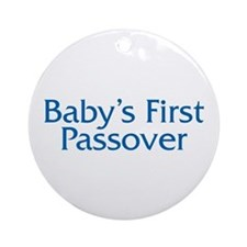 Baby's First Passover Ornament (Round)