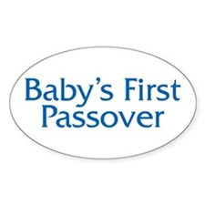 Baby's First Passover Oval Decal