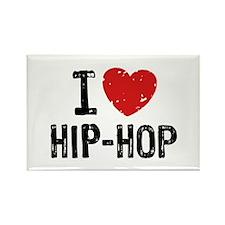 I Love Hip Hop Rectangle Magnet