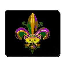 Masked Fleur de lis Mousepad