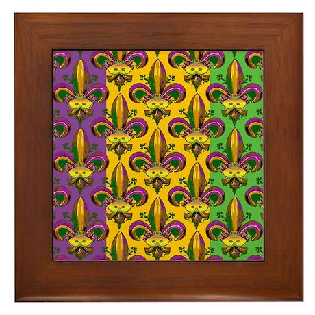 Masked Fleur De Lis Framed Tile By Artegrity