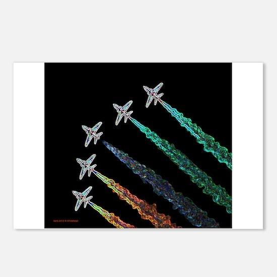 RAF Red Arrows Aero-Art Postcards (Package of 8)