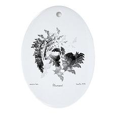 Fibonacci Bats Ornament (Oval)