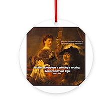 Art & Atmosphere Rembrandt Ornament (Round)