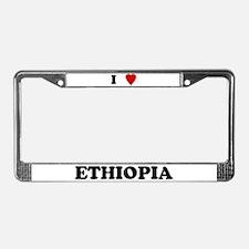 I Love Ethiopia License Plate Frame