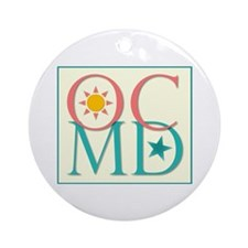 Ocean City, MD Ornament (Round)