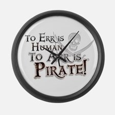 To Arr is Pirate! Funny Large Wall Clock