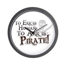 To Arr is Pirate! Funny Wall Clock