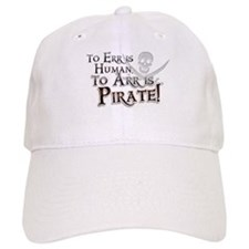 To Arr is Pirate! Funny Baseball Baseball Cap