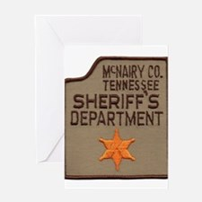 McNairy County Sheriff Greeting Card