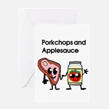 Pork Chop and Applesauce Greeting Card