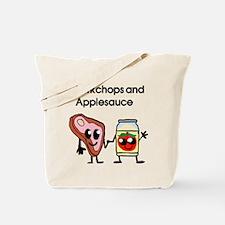 Pork Chop and Applesauce Tote Bag
