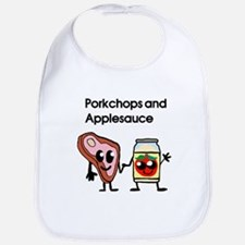 Pork Chop and Applesauce Bib