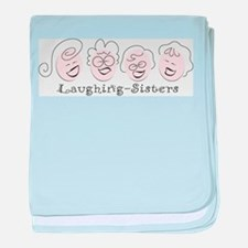 Laughing-Sisters baby blanket