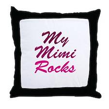 My Mimi Rocks Throw Pillow