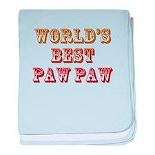 World's Best Paw Paw baby blanket
