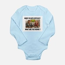 WHERE'S THE CERTIFICATE? Long Sleeve Infant Bodysu