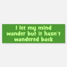 Wandering Mind Sticker (Bumper)