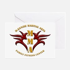 MMA Logo 2 - Gold Red - Greeting Card