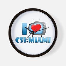 I Heart CSI: Miami Wall Clock
