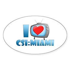 I Heart CSI: Miami Decal