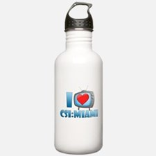 I Heart CSI: Miami Water Bottle