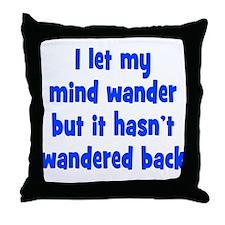 Wandering Mind Throw Pillow