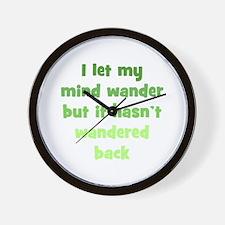 Wandering Mind Wall Clock