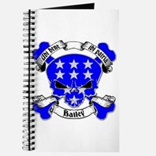 Bailey Family Crest Skull Journal