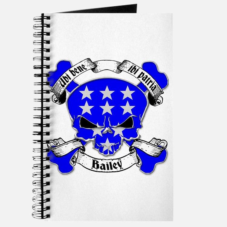 Bailey Family Crest Skull Journal
