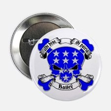 "Bailey Family Crest Skull 2.25"" Button"