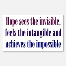 Impossible Hope Sticker (Rectangle)