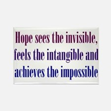 Impossible Hope Rectangle Magnet