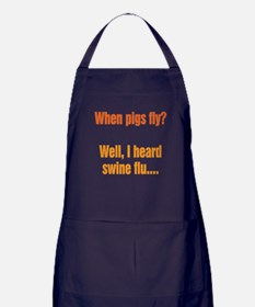 When Pigs Fly Apron (dark)